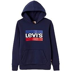 Levi's Kids NN15017 Sweat Shirt Garçon, Bleu (Dark Blue 48)), 12 ans (Taille fabricant:12Y)
