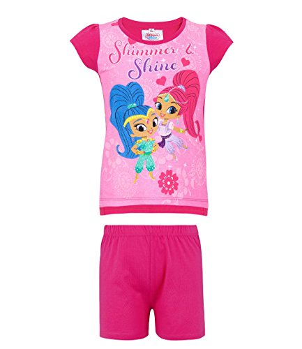 Shimmer & Shine Girls Short Sleeve Pyjama - Fuchsia
