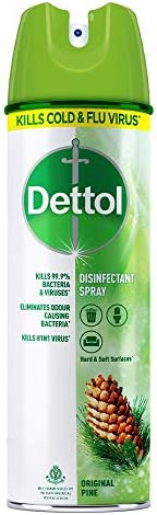 Dettol Disinfectant Spray Sanitizer for Germ Protection on Hard & Soft Surfaces, Original Pine, 2