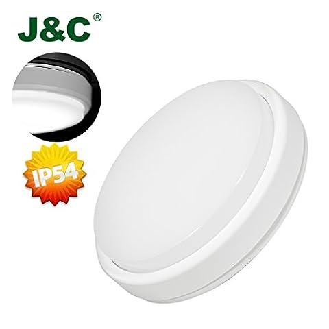 5 x J&C 12W Circular LED Ceiling Light 85W Fluorescent Bulb Equivalent Flush Mount Ceiling Lamp 850LM IP54 Natural White Φ210*48MM Lighting for Livingroom Bathroom