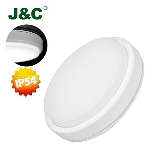 J&C-18W IP54 Plafón LED para Baños y Cocinas,...