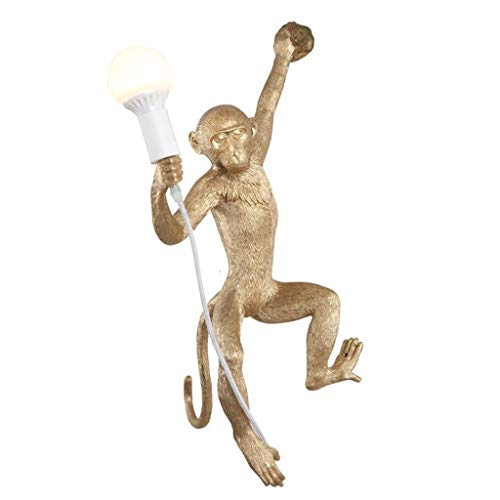 Table Lamp Tischlampe kreative Industriehanfseil Harz Affe Lampe Wohnzimmer Esszimmer Schlafzimmer Korridor Wandleuchte Hanfseil Kronleuchter Schreibtischlampe Table Lighting