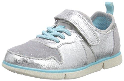 Clarks Tri Bessie Inf Mädchen Sneakers Silber (Silver Leather)