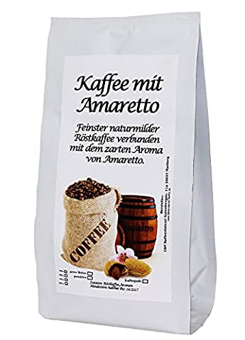 Flavoured / Flavored Coffee / Coffee with flavour as gift Amaretto 500 g fresh roasted by us coffee