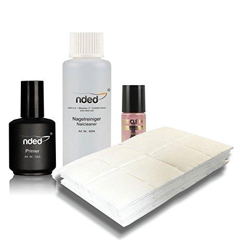 Lot kit préparation des ongles primer, cleaner et cotons