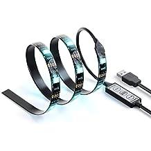 Satechi Striscia Multicolore RGB LED USB flessibile adesiva per l'Illuminazione d'Accento (Nera -