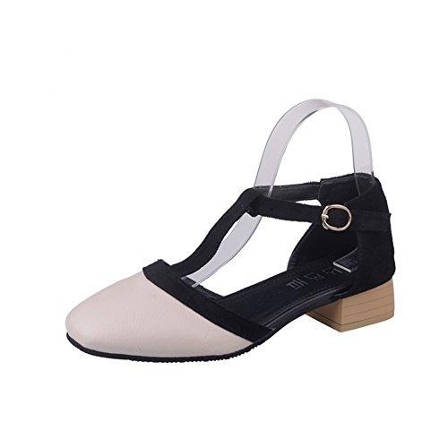 Baotou/sandales talons chunky/chaussures de dames élégantes au printemps A
