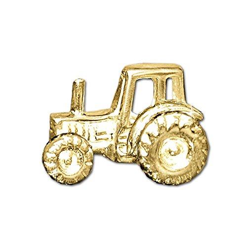 Clever Schmuck Goldener einzelner Herren Single Ohrstecker Traktor 9 x 6 plastisch ausgeprägt und glänzend 333 GOLD 8 KARAT