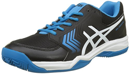 Asics Gel-Dedicate 5 Clay, Zapatillas de Tenis para Hombre, Negro (Black/Hawaiian Surf/White), 44.5 EU