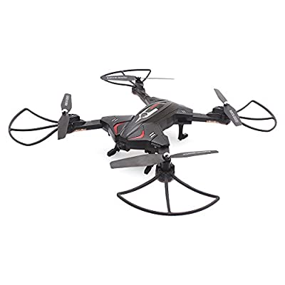 GoolRC Foldable Drone Wifi FPV 0.3MP Camera Drone RC Quadcopter with Flight Plan Route App Control Altitude Hold Function RTF Quadcopter