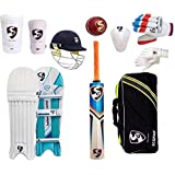 SG Cricket Set With Helmet And Ball (Ideal For 11-14 Years Child) Cricket Kit (Color May Very)