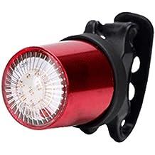 luces para bicicleta, Sannysis bicicleta Linterna LáMPARA Bici de carga por USB impermeable Luz de la bicicleta trasera de magnética 5 modo Reflector Bici Seguridad faro de señal