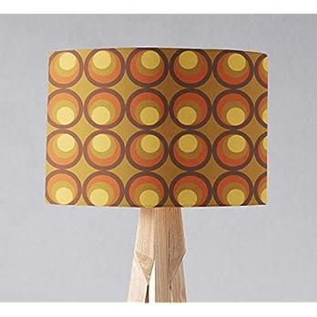 Brauner Lampenschirm mit einem Retro-Muster