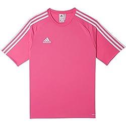 adidas Estro 15 JSY - Camiseta para hombre, color rosa solar / blanco, talla XL