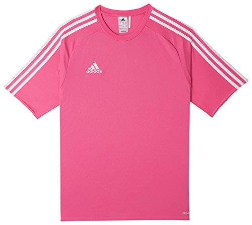 adidas Estro 15 JSY - Camiseta para hombre, color rosa solar/blanco, talla L