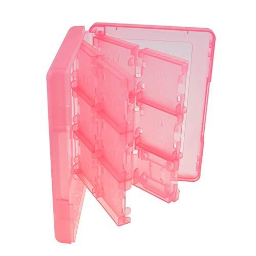 Nosii 24-in-1-Kartenhalter-Aufbewahrungsbox für Nintendo 3DS DSi DS XL-Tintenpatrone (Color : Pink) (Pink Nintendo Dsi Xl)
