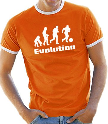 Orange Banana Sitz (Touchlines Herren Evolution Fußball Ringer / Kontrast T-Shirt B5084 orange/white S)