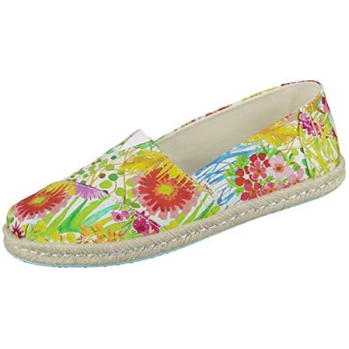 TOMS Damen 10013474 Espadrilles, Mehrfarbig (Sunshine Floral Deli 000), 37 EU (Canvas Schuhe Toms Slip)