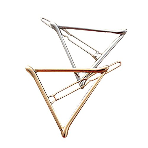 Contever 2PC Korean Style Triangle Hairpin Hair Clip Hair Accessories Fashion Girl - Silver + Golden by (Gothic Kit)