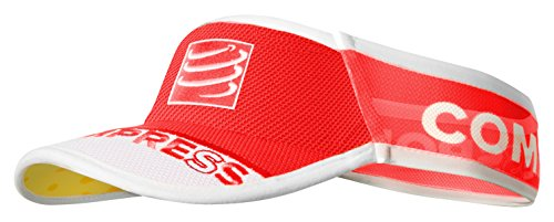 Compressport Ultralight - Visera unisex, color rojo, talla única