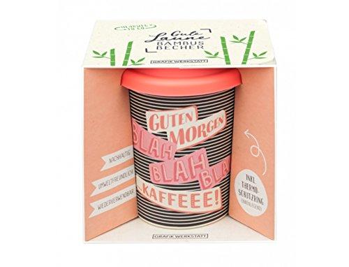 Grafik Werkstatt Bambus Kaffe-Becher | Coffee-to-Go | Geschenk | Bamboo-to-Go | Dankeschön | 350 ml | Guten Morgen