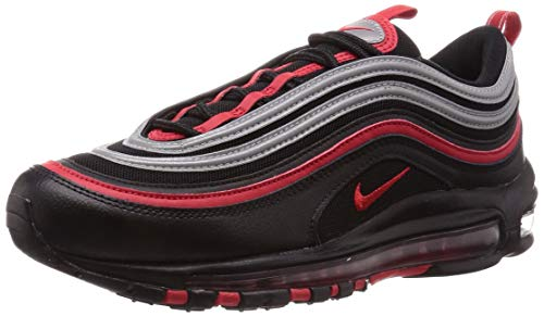 Nike Herren AIR MAX 97 Traillaufschuhe, Mehrfarbig (Black/University Red-Metallic Silver 014), 42.5 EU