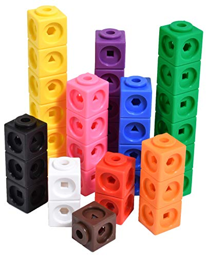 edx education 75166 Math Cubes - Set of 100 - Linking Cubes for Early Maths - Connecting Manipulative