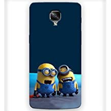 Prinvisa Cute Laughing Minions Designer Hard Back Case Cover for OnePlus 3T :: One Plus 3T :: OnePlus 3