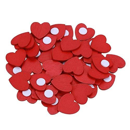 100 pegatinas corazones madera rojas hechas mano manualidades