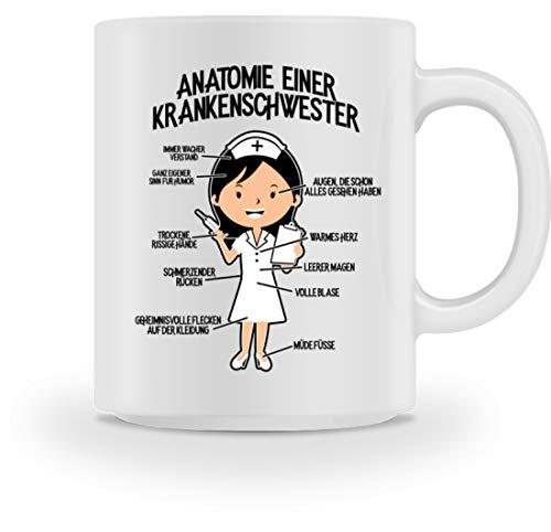 npflegerin: Krankenschwester-Anatomie - Tasse -M-Weiß ()