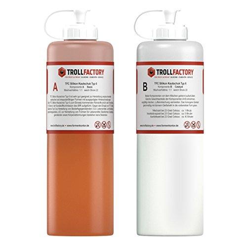 TFC Silikon Kautschuk Typ 6 I Dubliersilikon lebensmittelecht I weich, 2 kg (2 x 1 kg) (Formenbau-silikon)