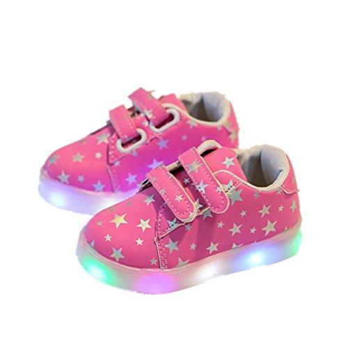 Baby Kind Art und Weiseturnschuhe LED-leuchtendes Kind Kleinkind beiläufige bunte helle Schuhe Von QinMM (1.5-2Jahr, (Kinder Uk Stern Kostüm)