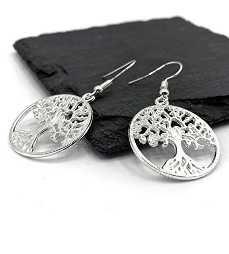 Ohrringe HOLY TREE | versilbert | Baum des Lebens | keltischer Weltenbaum | tree of life (Ohrring Keltische)