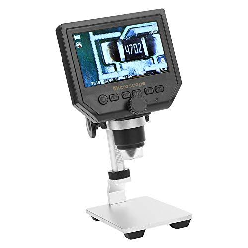 "Elektronisch Mikroskop, Tragbares digitales USB-Mikroskop 4,3\""G600 1-600X Lupe 1080P LCD-Digitalmikroskop 100-250V(EU)"