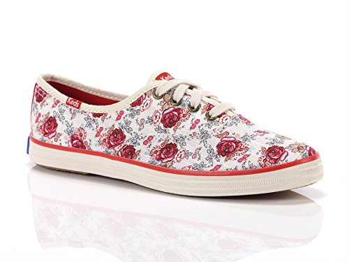 Keds, Donna, Taylor Swift Champion Floral, Canvas, Sneakers, Bianco, 40 EU