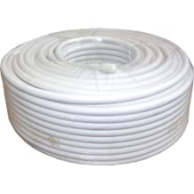 sac Electronics 50M RG6Satellite downlead Cable–Blanco