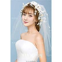 Littlefairy Accessori di velo fiore corona ragazza Mori Tiara Crepe nozze  gioielli da sposa in pizzo 3655dc25cceb