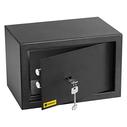 HomeSafe HV20K Caja fuerte con Cerradura de Calidad 20x31x20cm WxHxD, Negro Satén de Carbón