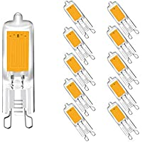 Bombillas LED G9 2W, Chip COB, Bombillas de Cápsula, 2W Equivalente a 25W
