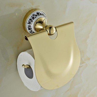 PIGE Keramik-Messing goldenen ti-PVD-Toilettenpapierhalter