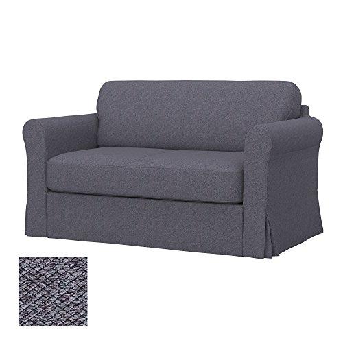 Soferia - IKEA HAGALUND Funda para sofá Cama, Nordic Anthracite