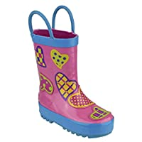 New Cotswold Childrens Fun & Funky Jumping Puddle Non Skid Sole Rubber Boot/Shoe