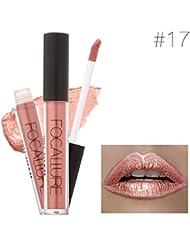 Malloom Rouge à Lèvres Nouvelle Mode Lèvres Femmes Sexy à Lèvres Cosmétiques Gloss Métal