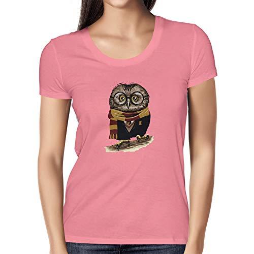 Texlab Damen Harry Owl T-Shirt, Pink, L