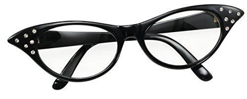 Bristol Novelty BA142B Brille im Stil der 50er, Schwarz, Damen, ()