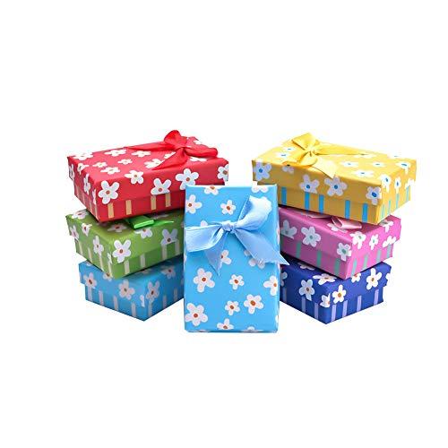 nbeads Geschenk-Box für Jahrestage, Hochzeiten, Geburtstage,, 8-8,2 x 5-5,2 x 2,6 cm, Innengröße: 7,5 x 4,6 cm, 24 Stück