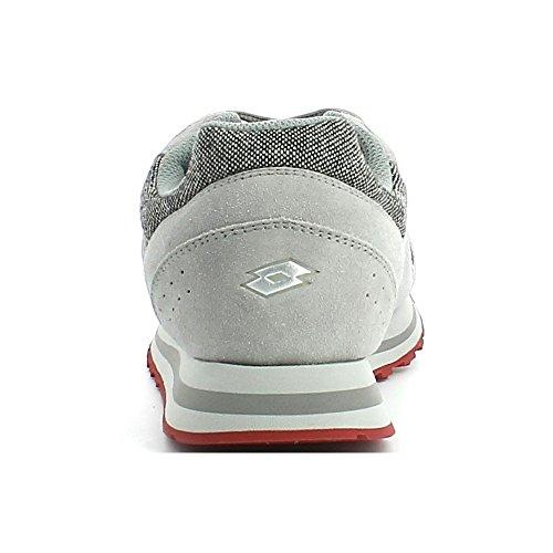 Lotto Trainer VIII TWD, Chaussures de Sport Homme Gris / marron (gris opale (grey opal) / marron toffee (brown toffee))