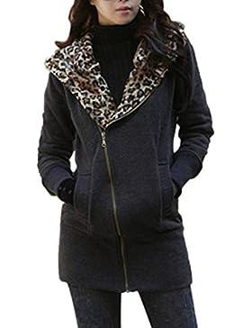 ZANZEA Mujeres Chaqueta Abrigo Larga Con Capucha Zip Jacket Coat Top Blazer Outwear 38_50