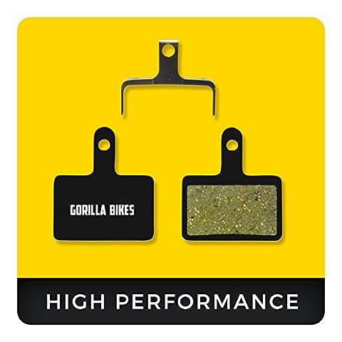 Shimano Bremsbeläge Deore B01S LX Alivio Acera Tourney Nexave für Scheibenbremse Organic Beläge Bike Bremse Bremsbelag | Gorilla Bikes High Performance Disc Brake (Shimano Vorne Disc Adapter)
