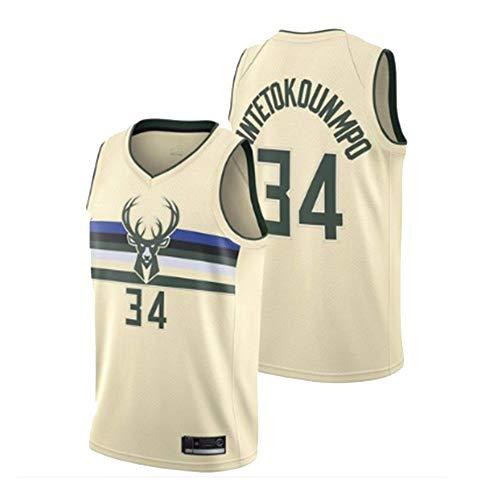 Herren Basketball Swingman Jersey NBA Bucks 34# Antetokounmpo Trikot Summer Classic Stickerei Ärmellose Weste